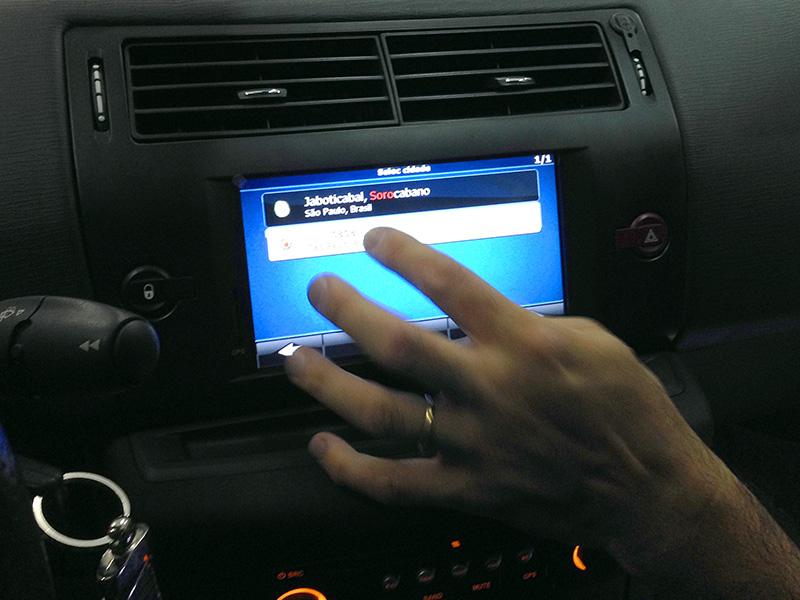 Central Multimidia linha Citroën C4 Original com GPS
